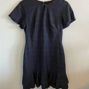 NWT Navy Banana Republic Dress 8 Plaid Sz 8
